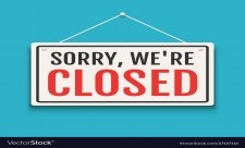 Sorry we are closed...